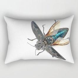 Sculpted Pine Borer (Chalcophora angulicollis) Rectangular Pillow