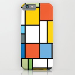 The Colors of / Mondrian Series - Simpsons iPhone Case