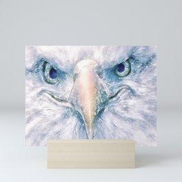 Portrait of an eagle bald Mini Art Print