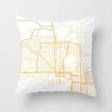 PHOENIX ARIZONA CITY STREET MAP ART Throw Pillow