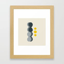 Uende Grayellow - Geometric and bold retro shapes Framed Art Print