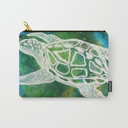 Cosmic Emerald Turtle Guardian Carry-All Pouch