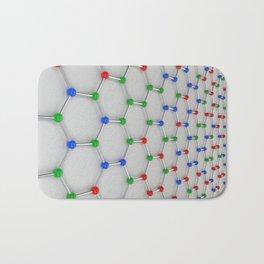 Graphene atomic structure on white Bath Mat