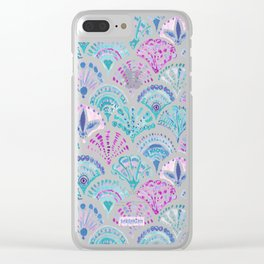 SHELL OUT Boho Mermaid Scales Clear iPhone Case