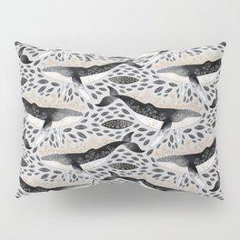 Floral Whale Pattern Pillow Sham