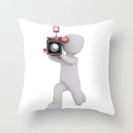 Beautiful Camera Man Throw Pillow