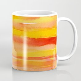 Watercolor Pattern Abstract Summer Sunrise Sky on Fire Coffee Mug