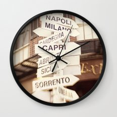 Lead me to Italy Wall Clock