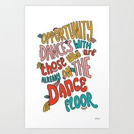 Dance Floor Art Print