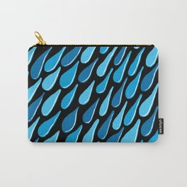 monochromatic blue aqua turquoise navy Carry-All Pouch