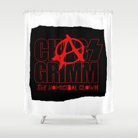 army Shower Curtains featuring Chaos Army by Altered Ego