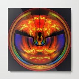 Phoenix Circle Metal Print