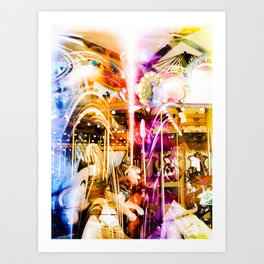 """Carousel Ride"" Art Print"