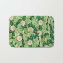 Cacti Camouflage, Green and White Bath Mat