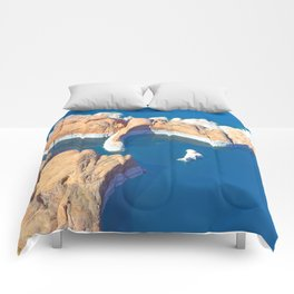 Soaring Over Turquoise and Sandstone V Comforters
