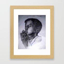 Let Us Pray Framed Art Print