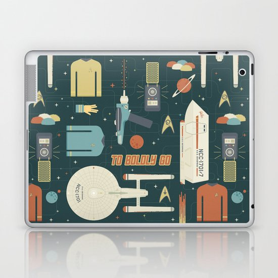 To Boldly Go... Laptop & iPad Skin