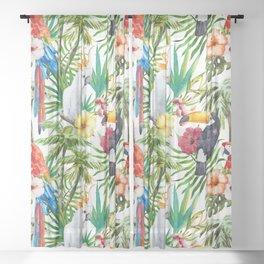 Exotic Birds pattern Sheer Curtain
