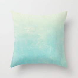 Spearmint Ombre Throw Pillow