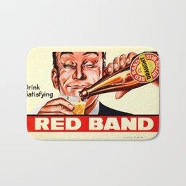 Vintage poster - Red Band Beer Bath Mat