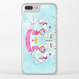 Dream Big Unicorn Carousel Clear iPhone Case