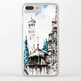 Winter at the Castle Clear iPhone Case
