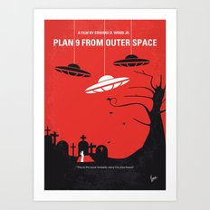 No518 My Plan 9 From Outer Space minimal movie poster Art Print