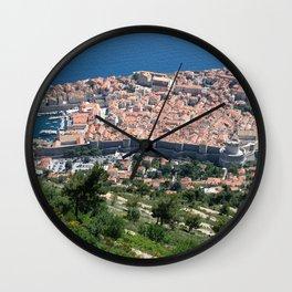 Over Dubrovnik, Croatia Wall Clock