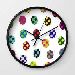 Crazy eggs Wall Clock