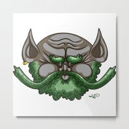 Bearded Fella Metal Print