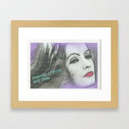 Greta la divina Framed Art Print