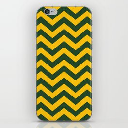 Chevron Pattern: Green & Yellow Zig Zags iPhone Skin