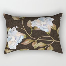 Elegant Victorian Vines and Flowers Rectangular Pillow