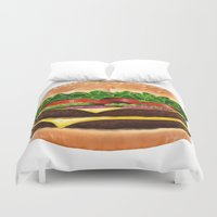 burger Duvet Covers featuring Burger by Connor Driest