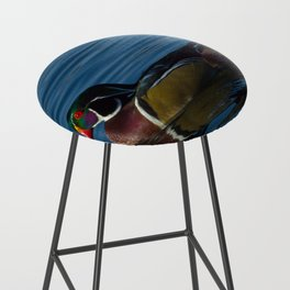 Colorful Wood Duck Bar Stool