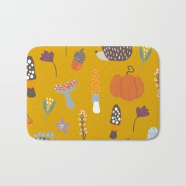 Fall Critters Bath Mat