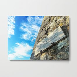 Manciano medieval castle in summer Metal Print