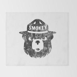 Smokey Bear Distressed Logo Throw Blanket