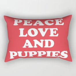 Peace love and puppies Rectangular Pillow