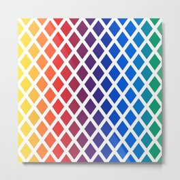 Rainbow geometric pattern Metal Print