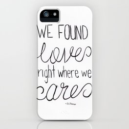 Thinking Out Loud 1 iPhone Case