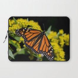 Orange Monarch Butterfly Laptop Sleeve