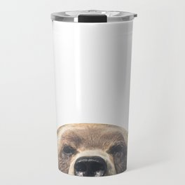 Bear - White Travel Mug