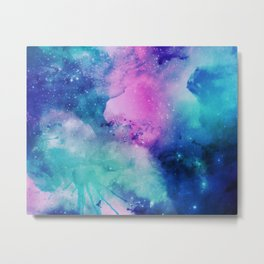 Purple Universe Metal Print