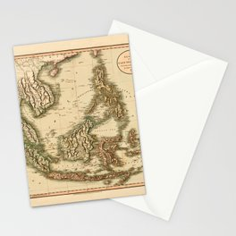 Map Of The East Indies 1801 Stationery Cards