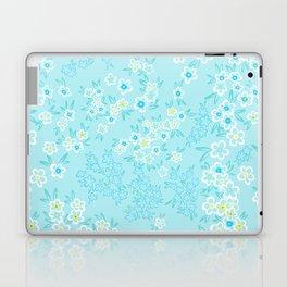 Forget Me Knot - Little Flowers on aqua Laptop & iPad Skin