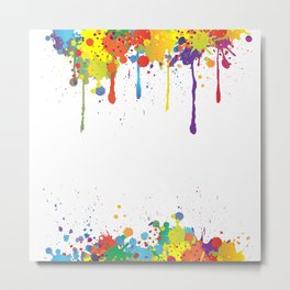 Paint Watercolor Splatter Metal Print