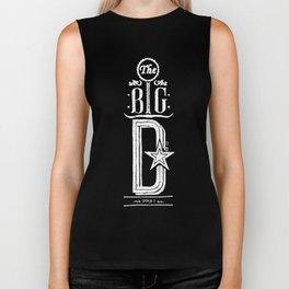 The Big D (wht) Biker Tank