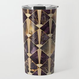 Art Deco Tiles - Plum Travel Mug