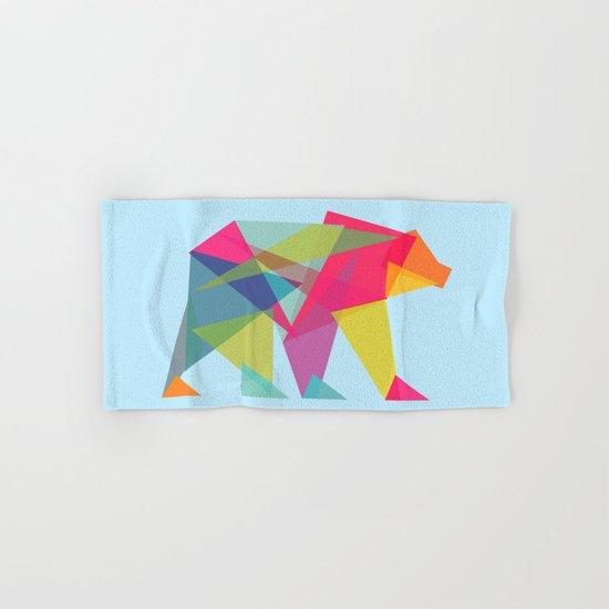 Fractal Bear - neon colorways Hand & Bath Towel